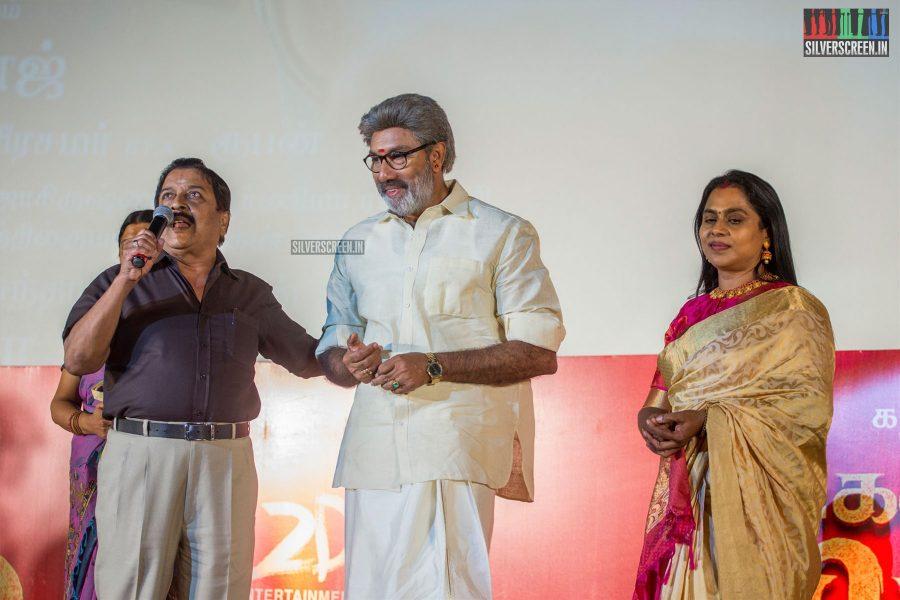 Sathyaraj At The Kadaikutty Singam Audio Launch