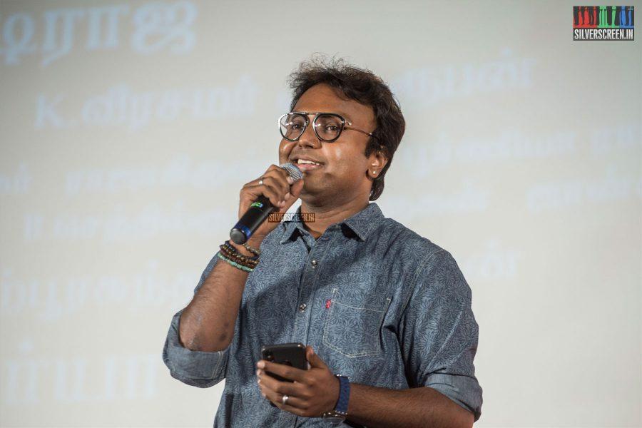 D Imman At The Kadaikutty Singam Audio Launch