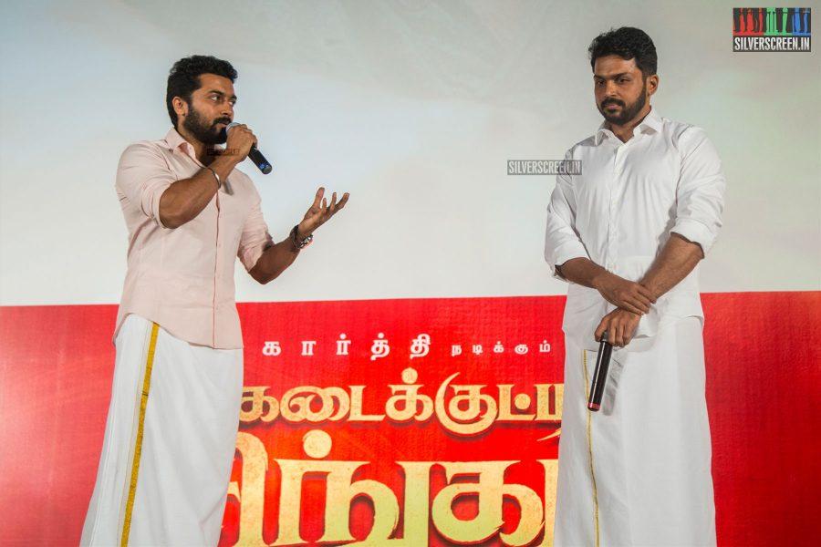 Suriya & Karthi At The Kadaikutty Singam Audio Launch