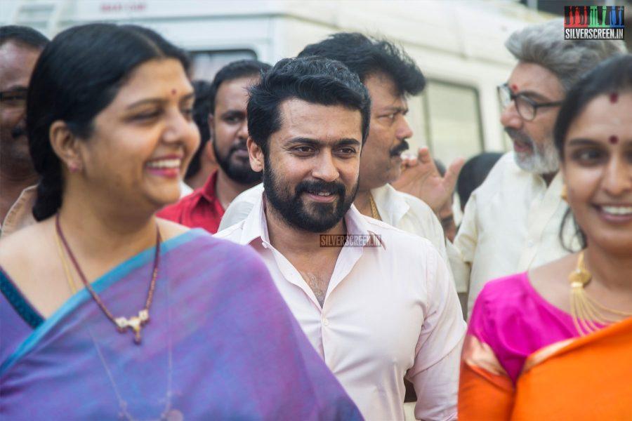 Suroya At The Kadaikutty Singam Audio Launch