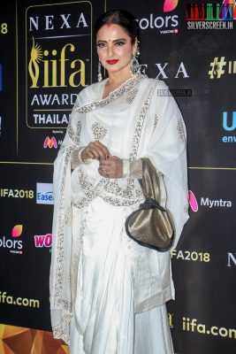 Rekha At The IIFA Press Meet