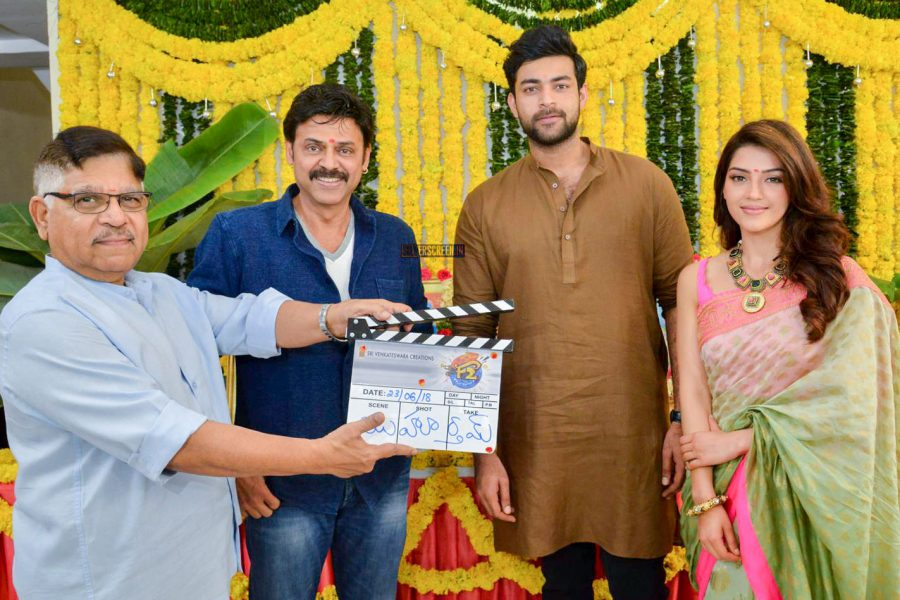 Venkatesh, Varun Tej And Others At The F2 Movie Launch