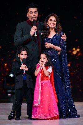 Karan Johar & Madhuri Dixit On The Sets Of Dance Deewane To Promote Dhadak