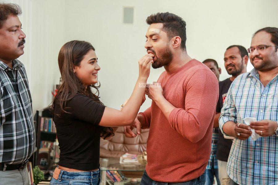 Kalyan Ram Celebrates Birthday On The Sets Of NKR 16 With Shalini Pandey