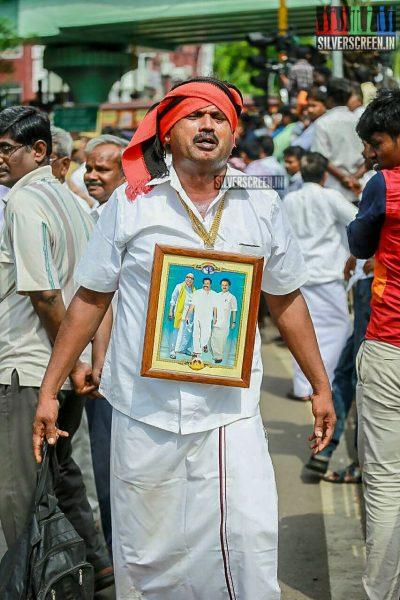 Karunanidhi's Health: Actors, Politicians, Party Cadres Visit Ailing DMK President