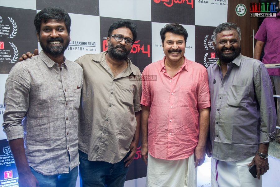 Ram and Mammootty at the Peranbu Audio Launch
