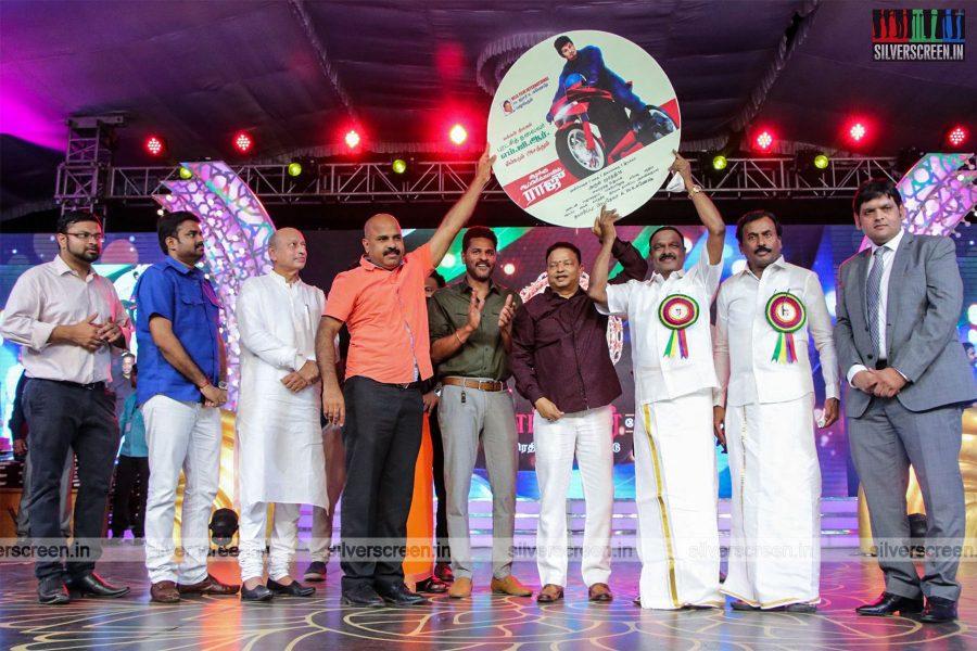 Prabhu Deva, RJ Balaji And Others At The Kizhakku Africavil Raju Audio Launch