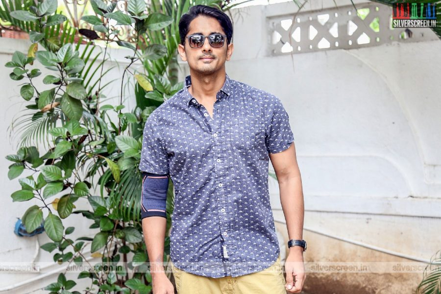 Siddharth At The Launch Of Trident Arts New Production
