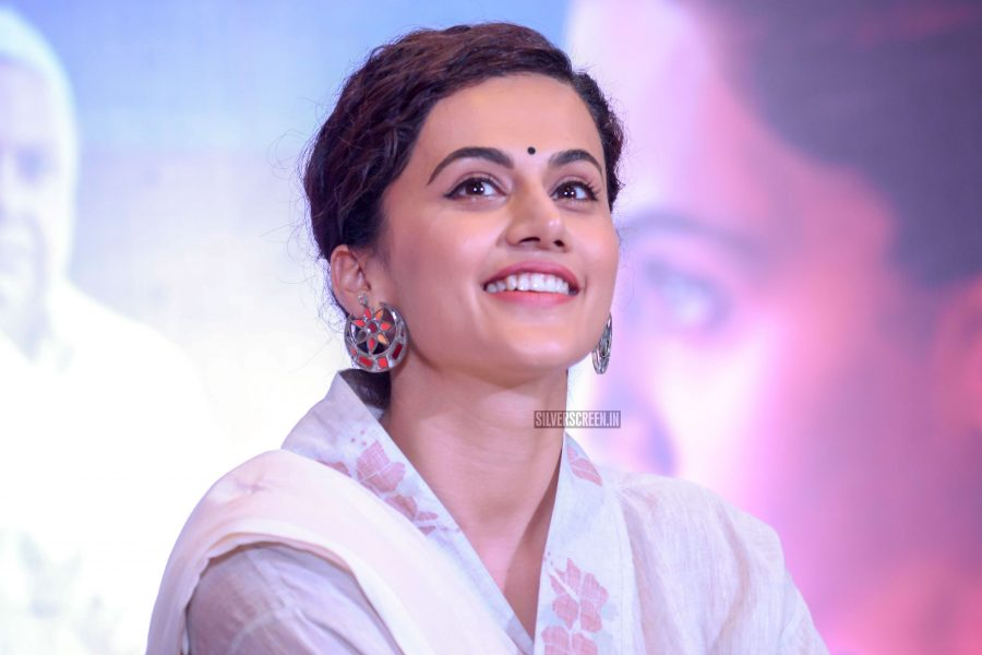 Taapsee Pann At The Mulk Press Meet