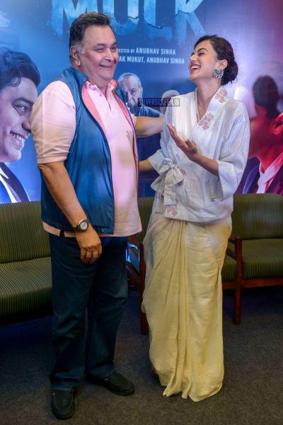 Taapsee Pannu And Rishi Kapoor At The Mulk Press Meet