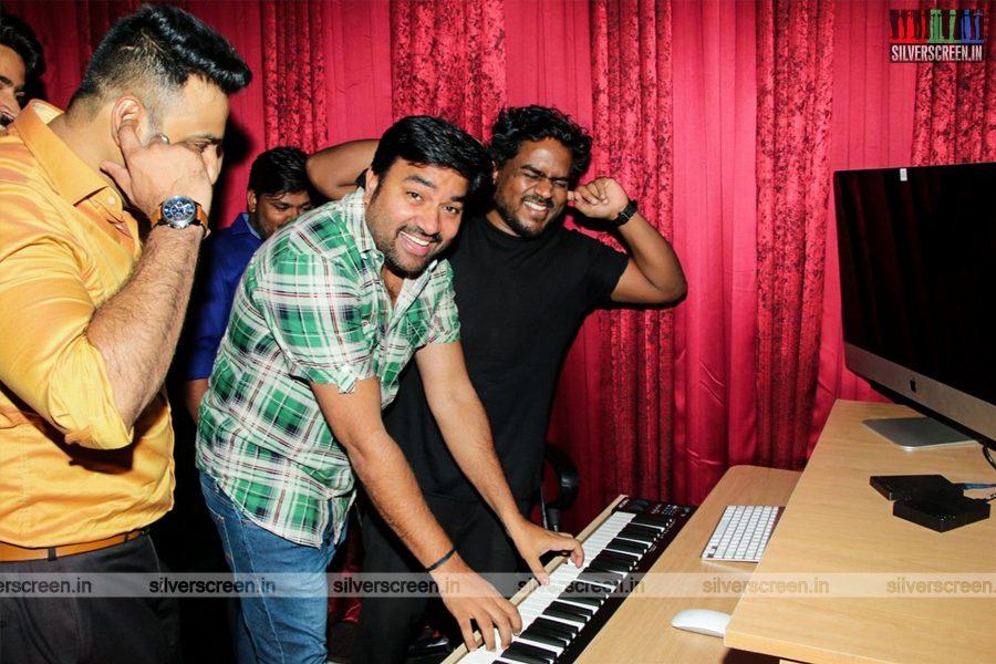 Yuvan Shankar Raja, Shiva At A Studio Launch In Chennai In Chennai