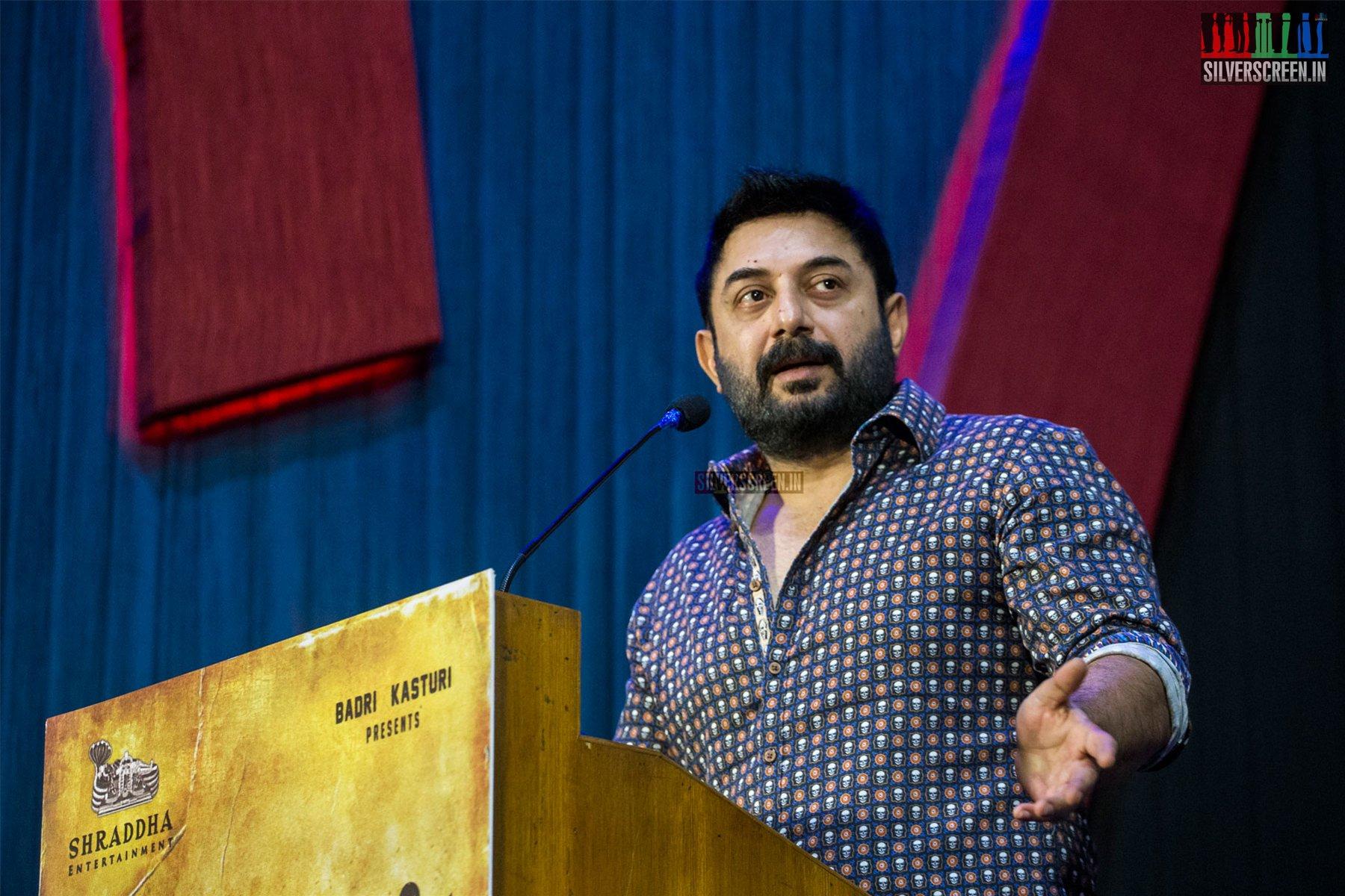 Arvind Swamy At The Naragasooran Press Meet