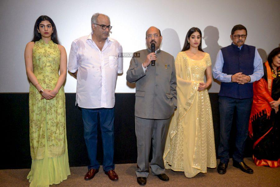 Jhanvi Kapoor, Boney Kapoor At The Special Screening On Sridevi In Delhi