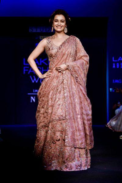 Dia Mirza At The Lakme Fashion Week 2018