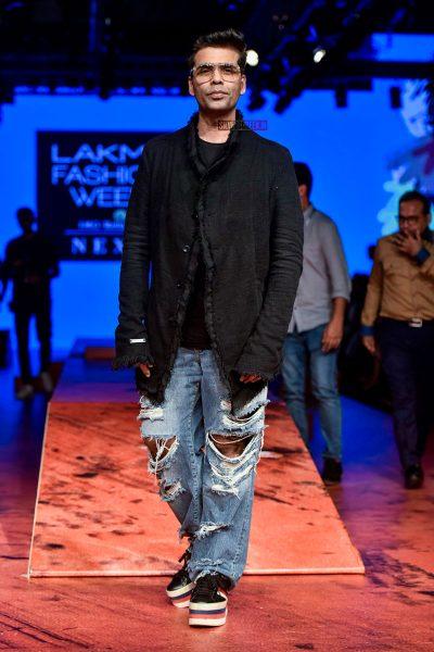 Karan Johar At The Lakme Fashion Week 2018
