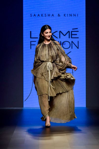 Shruti Haasan At The Lakme Fashion Week 2018