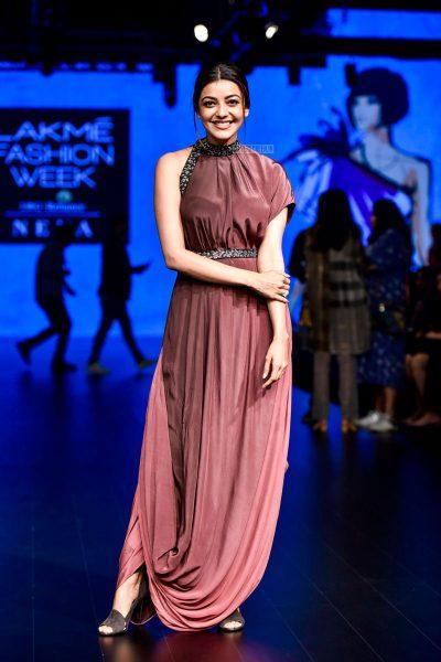 Kajal Aggarwal At The Lakme Fashion Week 2018
