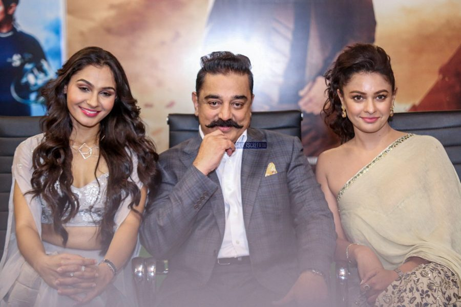 Kamal Haasan, Pooja Kumar, Andrea Jeremiah At The Vishwaroopam 2 Audio Launch