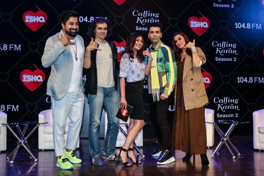 Karan Johar And Neha Dhupia On The Sets Of Calling Karan Season 2
