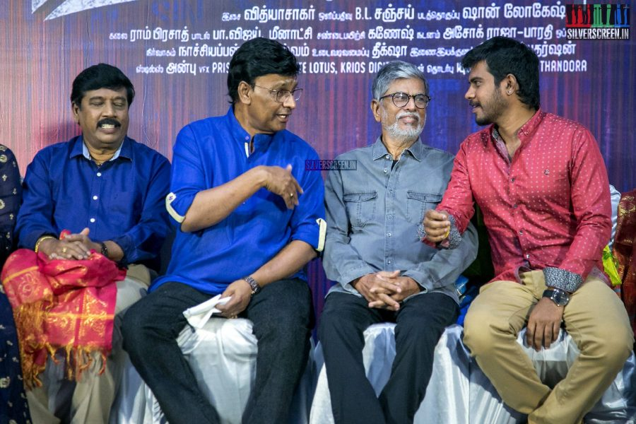 K Bhagyaraj, SA Chandrasekhar & Pa Vijay At The Aaruthra Audio Launch