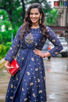 Sanjana Singh At The Aaruthra Audio Launch