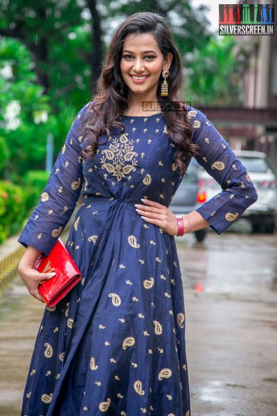 Sanjana Singh At The Aaruthra Audio Launch