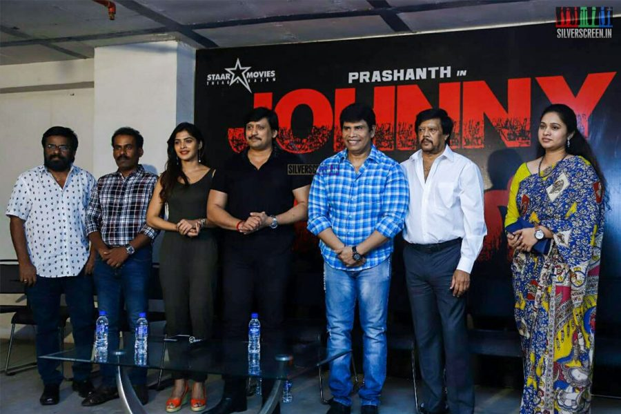 Prashanth, Sanchita Shetty At The Johnny Press Meet