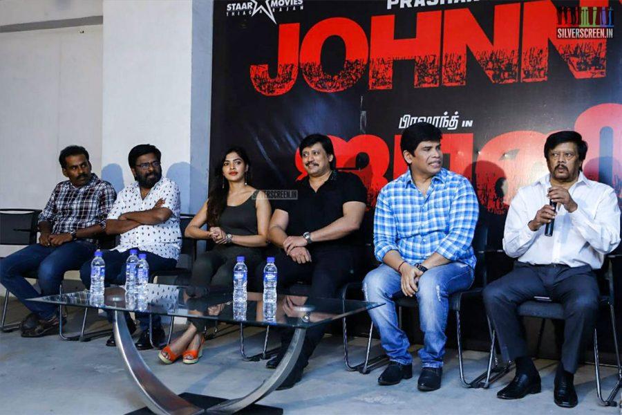 Prashanth, Sanchita Shetty At The Johnny Press Meet