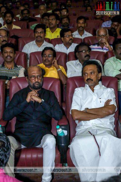 Rajinikanth At The Prayer Meet For M Karunanidhi