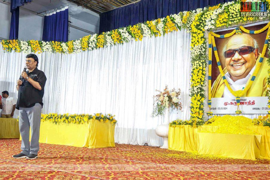 K Bhagyaraj At The Prayer Meet For M Karunanidhi