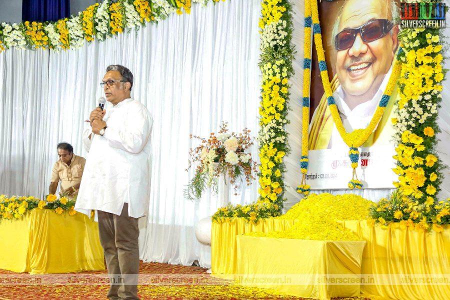 Nasser At The Prayer Meet For M Karunanidhi