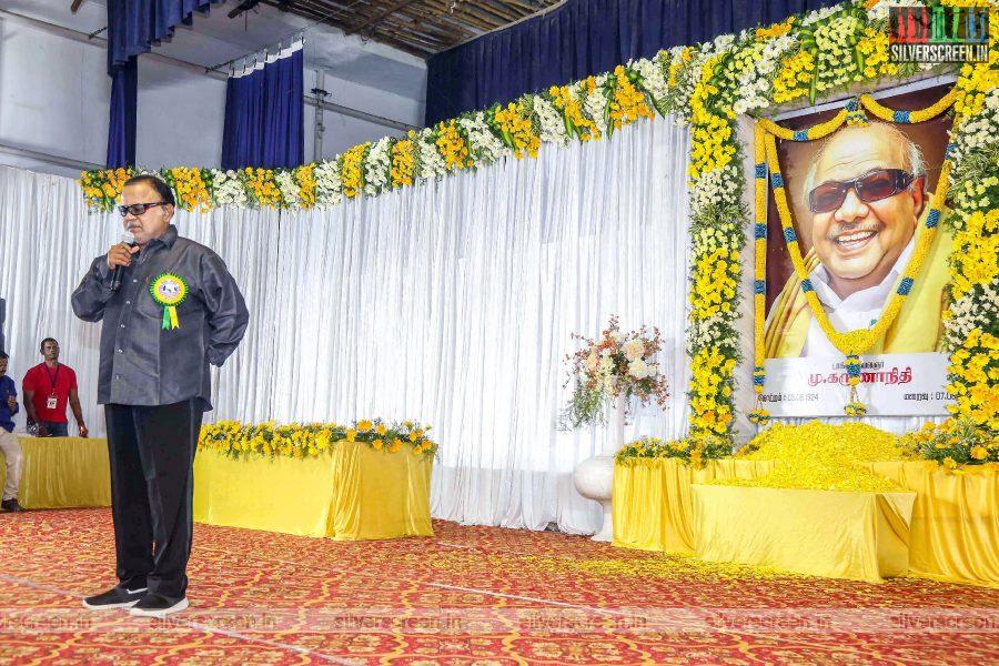 Radha Ravi At The Prayer Meet For M Karunanidhi