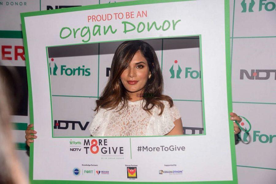 Richa Chadda At An Organ Donation Campaign