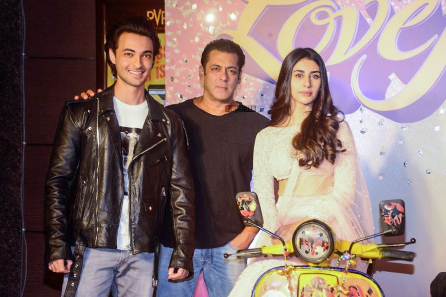 Salman Khan, Warina Hussain, Aayush Sharma At The Loveratri Trailer Launch