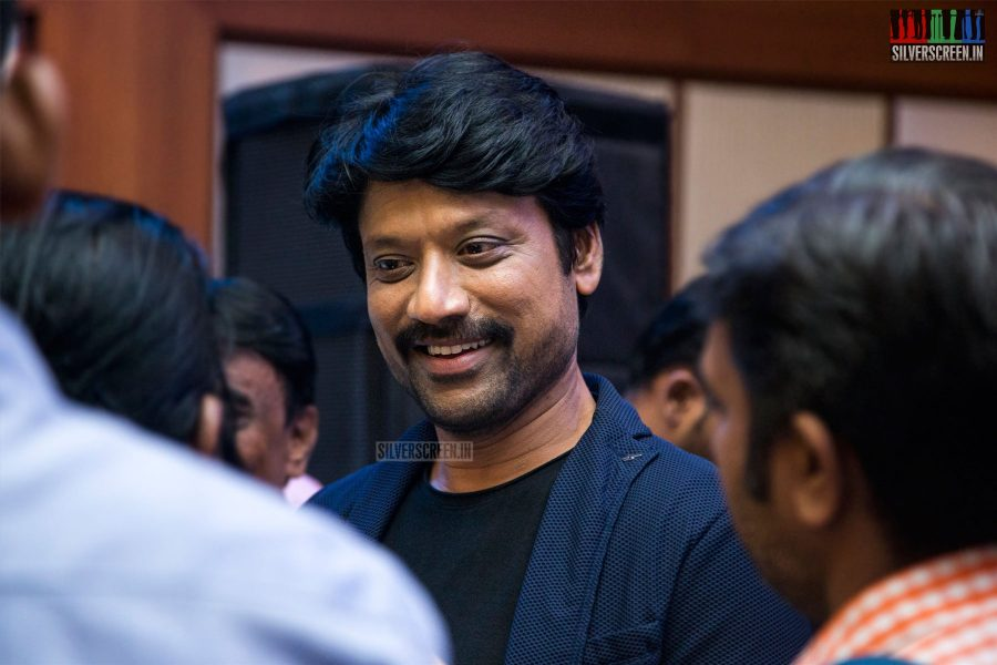 SJ Suryah At The Uyarndha Manithan Press Meet