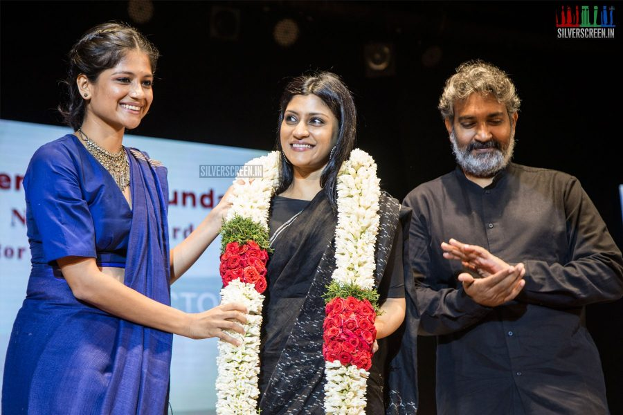 Aditi Balan, Konkona Sen Sharma, SS Rajamouli at the 21st Gollapudi Srinivas National Award