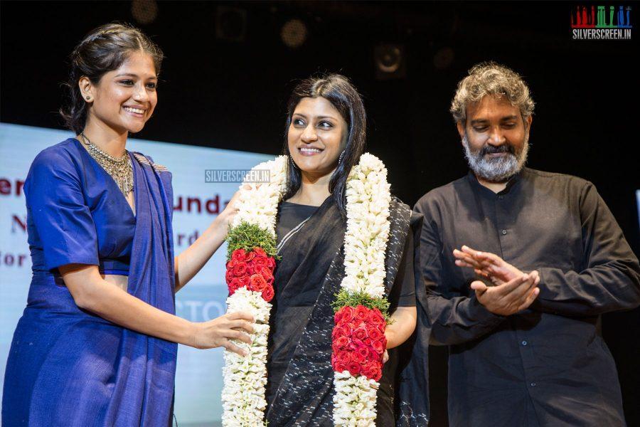 Aditi Balan, Konkona Sen Sharma, SS Rajamouli at the 21st Gollapudi Srinivas National Award