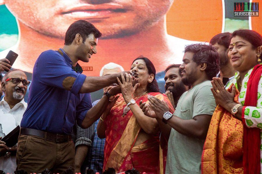Vishal At The Irumbuthirai Success Meet
