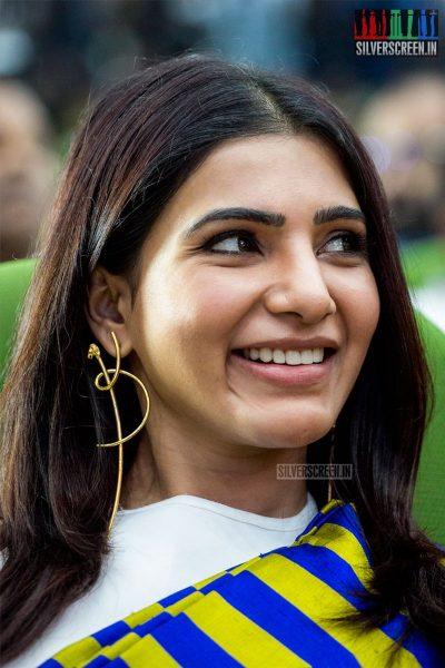 Samantha At The Irumbuthirai Success Meet