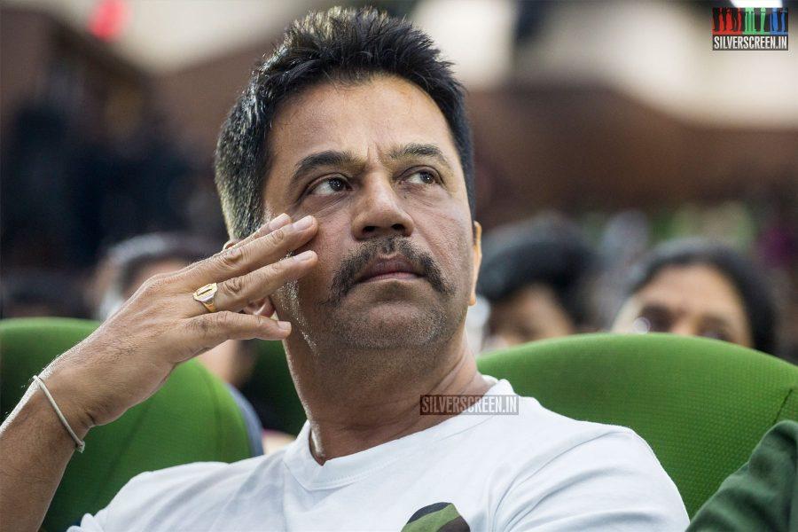 Arjun At The Irumbuthirai Success Meet