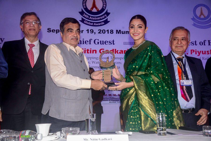 Anushka Sharma At The 34th Anniversary Of Priyadarshni Academy Global Award
