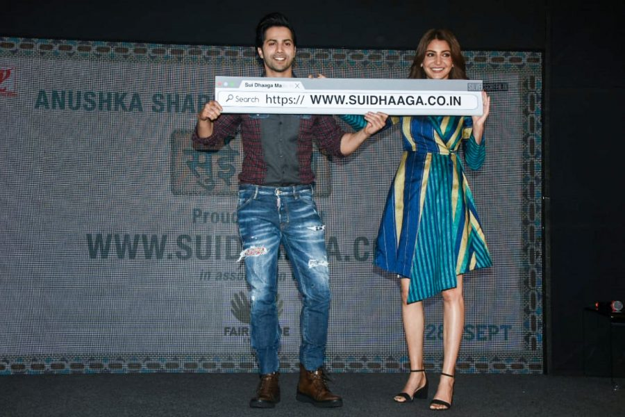 Anushka Sharma & Varun Dhawan Promote Sui Dhaaga–Made In India