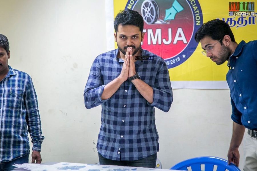 Karthi Inaugurates Free Health Camp For Film Journalists In Chennai's Prasab Lab