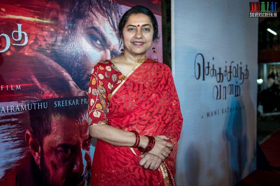 Suhasini At The Chekka Chivantha Vanam Audio Launch