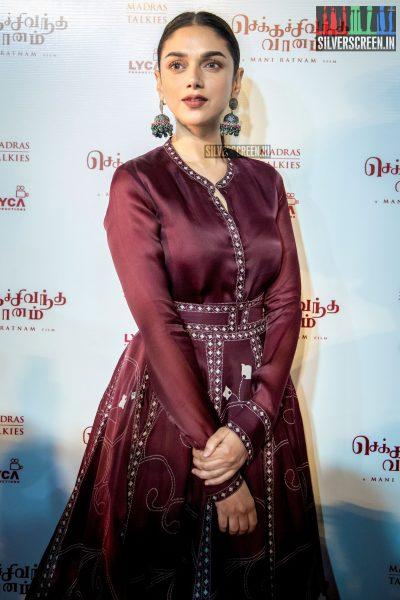 Aditi Rao Hydari At The Chekka Chivantha Vanam Audio Launch