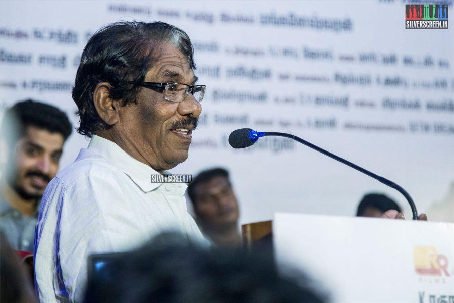 P Bharathiraja At The Maragatha Kaadu Audio Launch