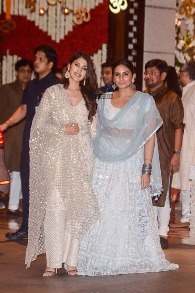 Huma Qureshi At The Ambani Residence For Ganesh Chaturthi Celebrations