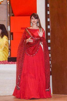 Ileana D'Cruz At The Ambani Residence For Ganesh Chaturthi Celebrations