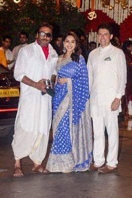 Jackie Shroff At The Ambani Residence For Ganesh Chaturthi Celebrations