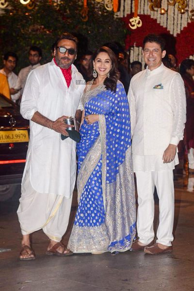 Jackie Shroff At The Ambani Residence For Ganesh Chaturthi Celebrations